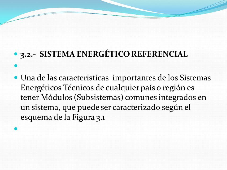 3.2.- SISTEMA ENERGÉTICO REFERENCIAL
