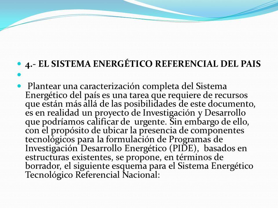 4.- EL SISTEMA ENERGÉTICO REFERENCIAL DEL PAIS