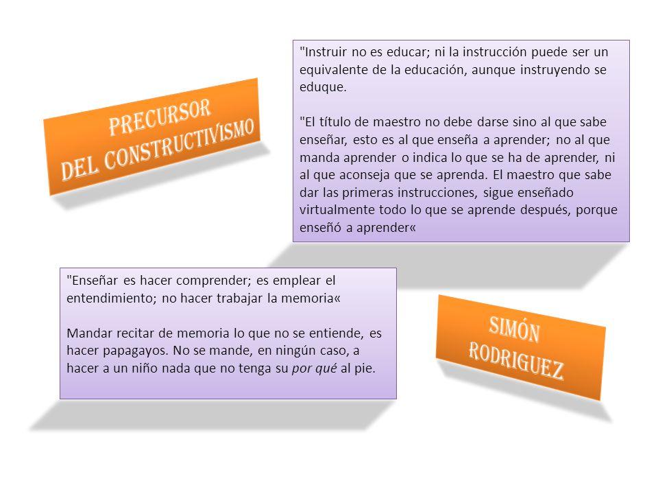 Precursor DEL CONSTRUCTIVISMO SIMÓN RODRIGUEZ
