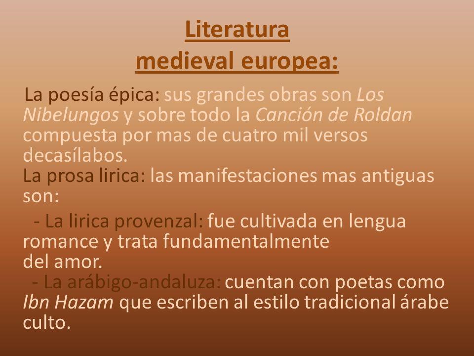 Literatura medieval europea: