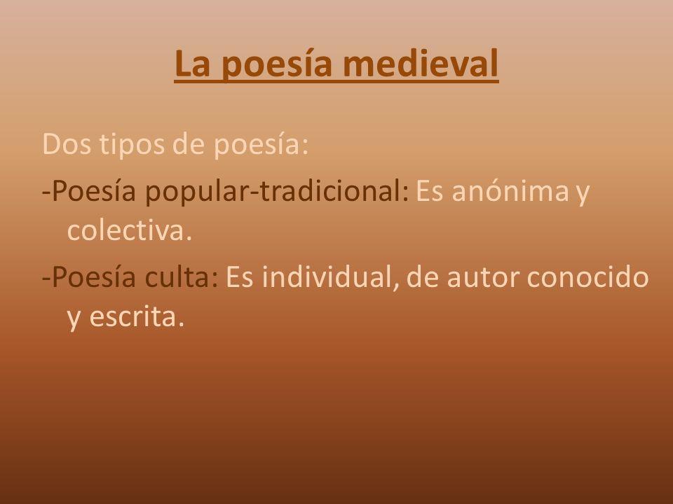 La poesía medieval
