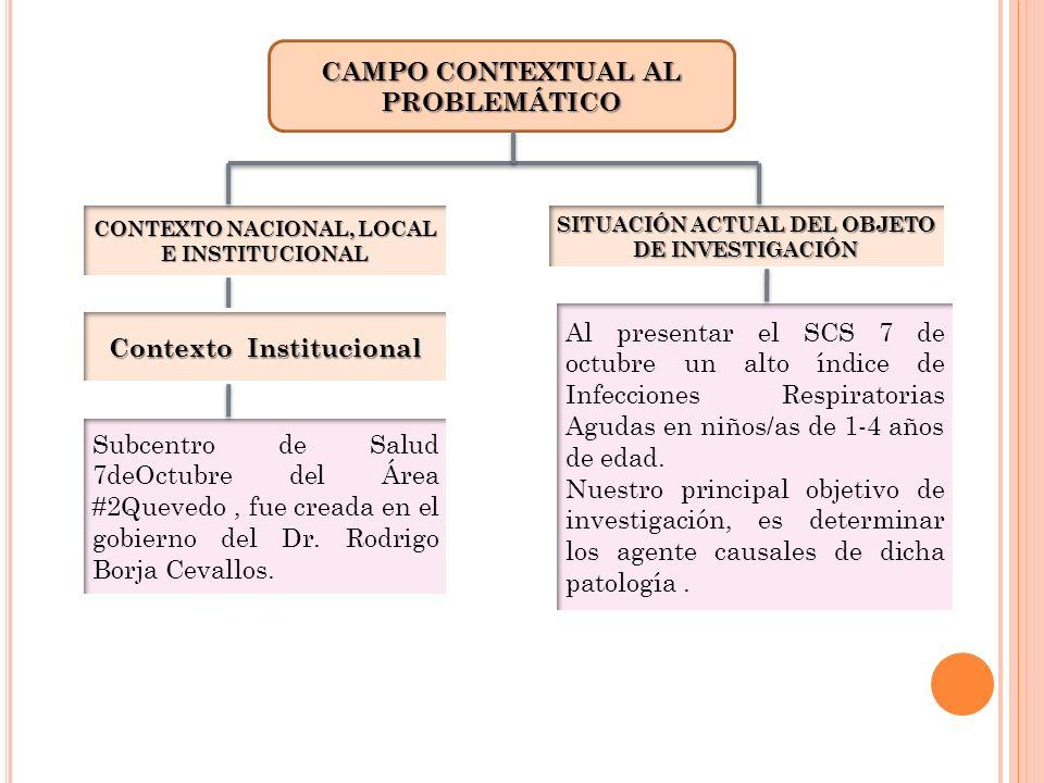 CAMPO CONTEXTUAL AL PROBLEMÁTICO Contexto Institucional