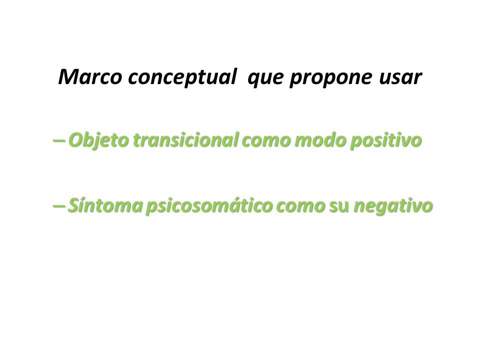 Marco conceptual que propone usar