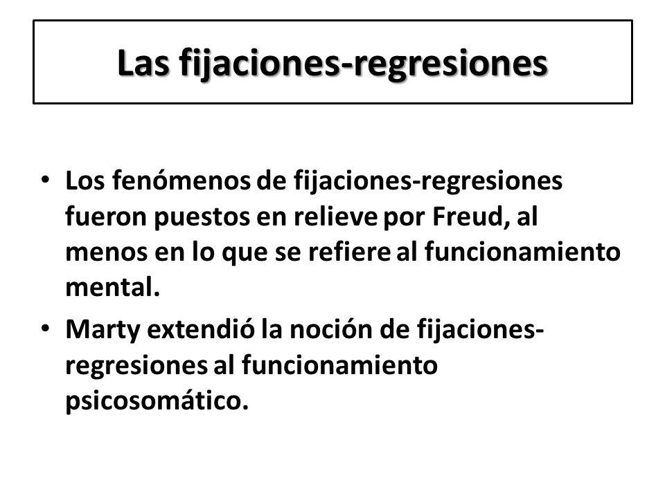 Las fijaciones-regresiones