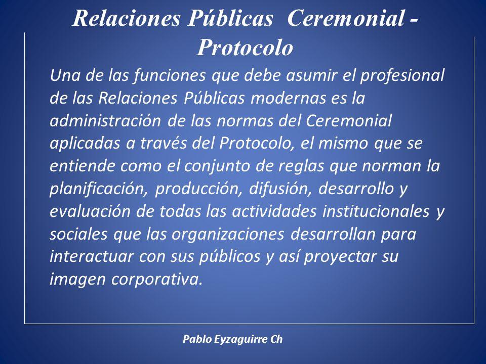 Relaciones Públicas Ceremonial - Protocolo