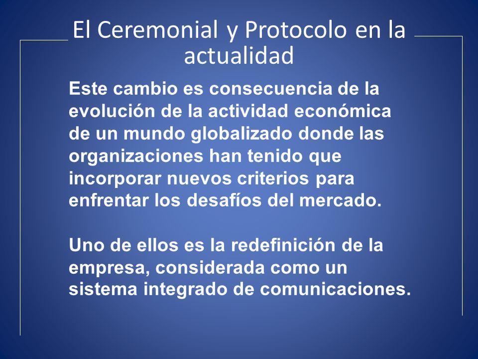 El Ceremonial y Protocolo en la actualidad