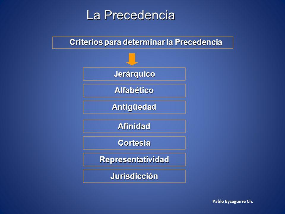 La Precedencia Criterios para determinar la Precedencia Jerárquico