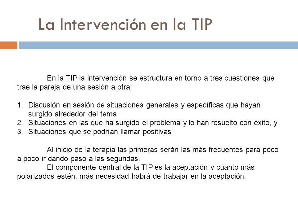 La Intervención en la TIP