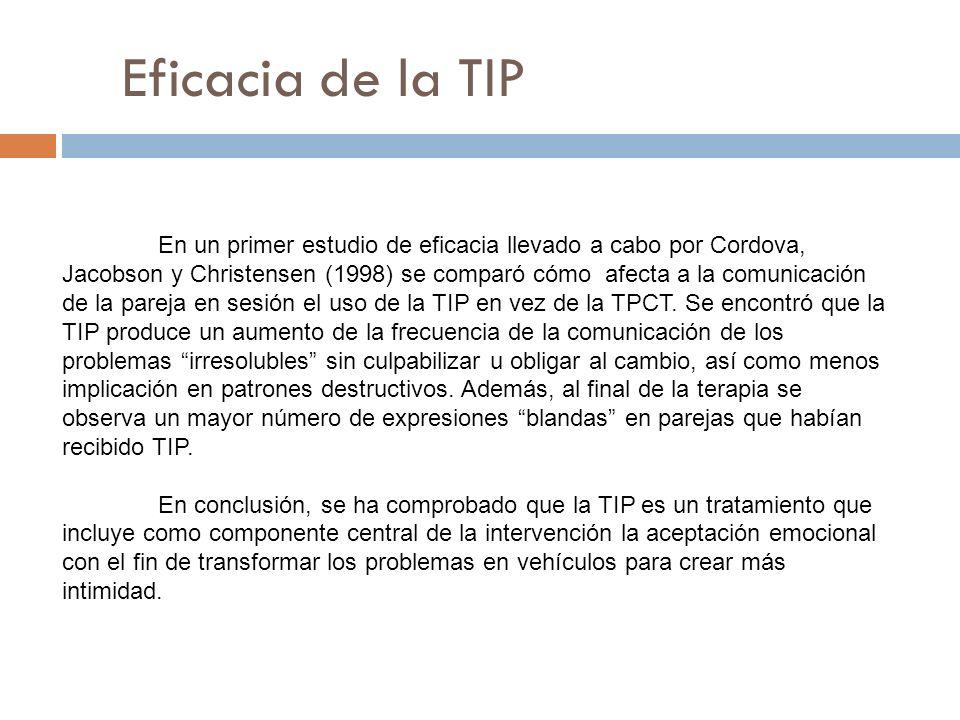 Eficacia de la TIP