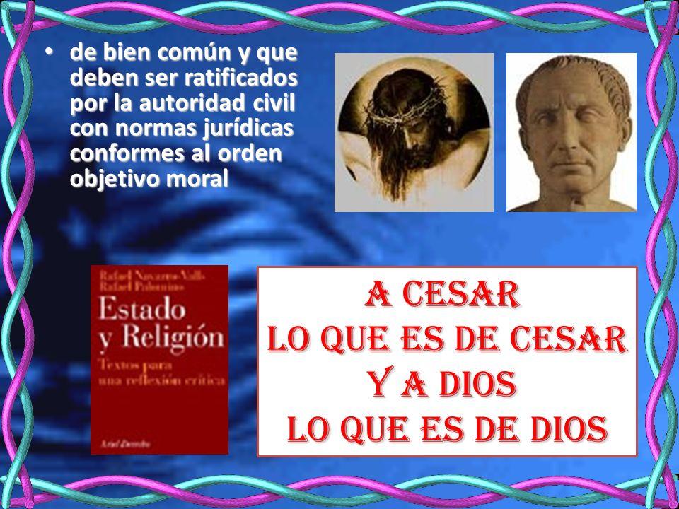 A Cesar lo que es de Cesar Y a Dios lo que es de Dios