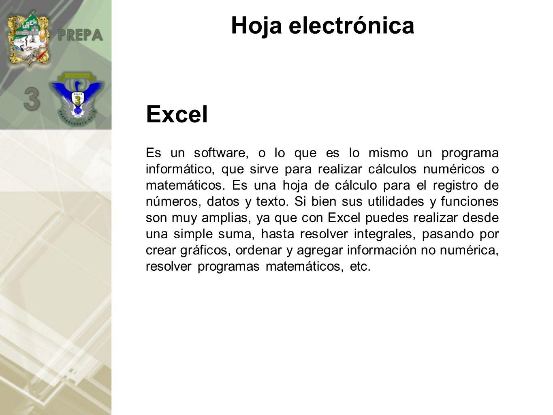 Hoja electrónica Excel