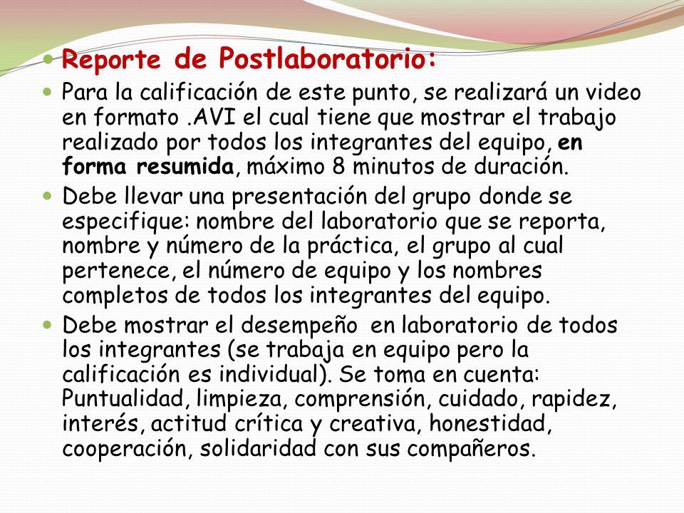 Reporte de Postlaboratorio: