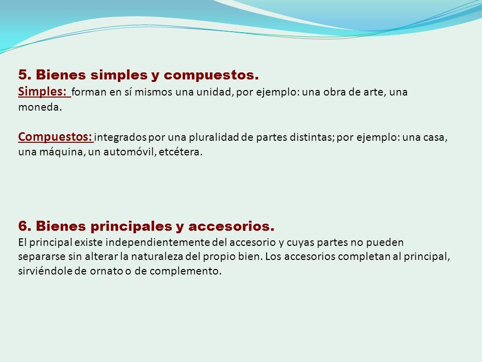 5. Bienes simples y compuestos.