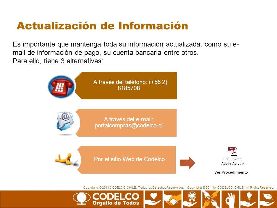 Actualización de Información