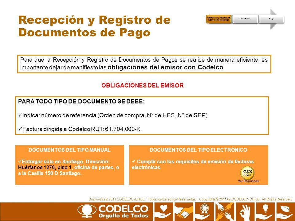 Recepción y Registro de Documentos de Pago