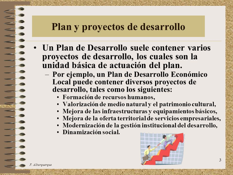 Plan y proyectos de desarrollo
