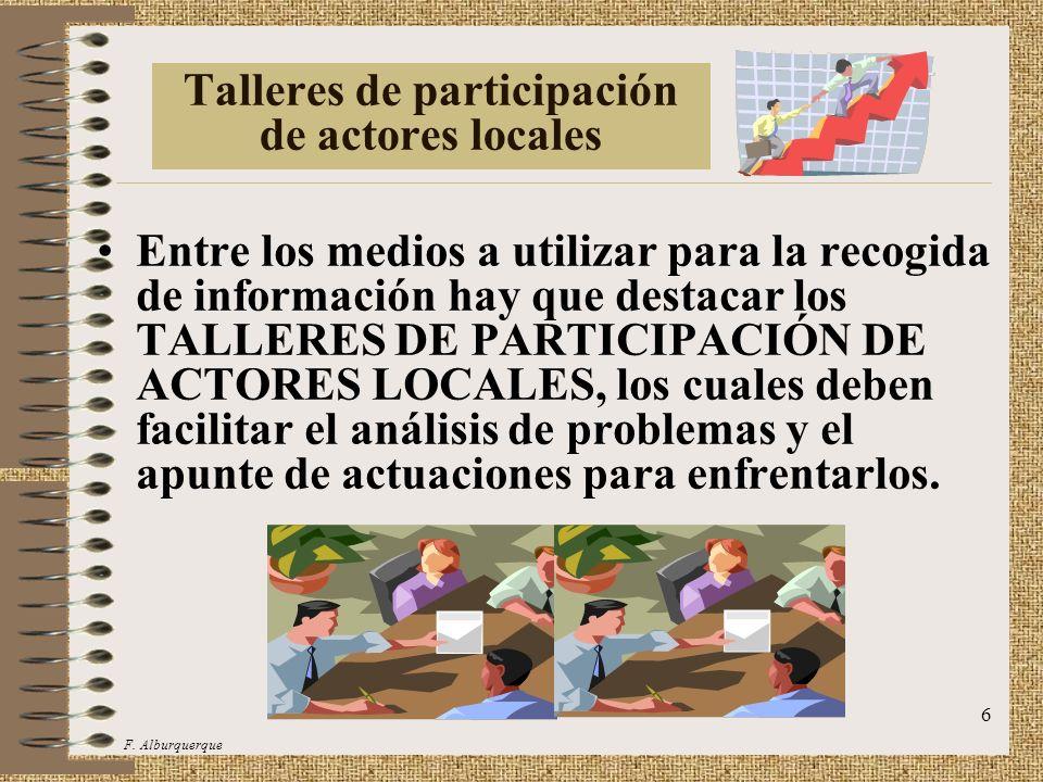 Talleres de participación de actores locales