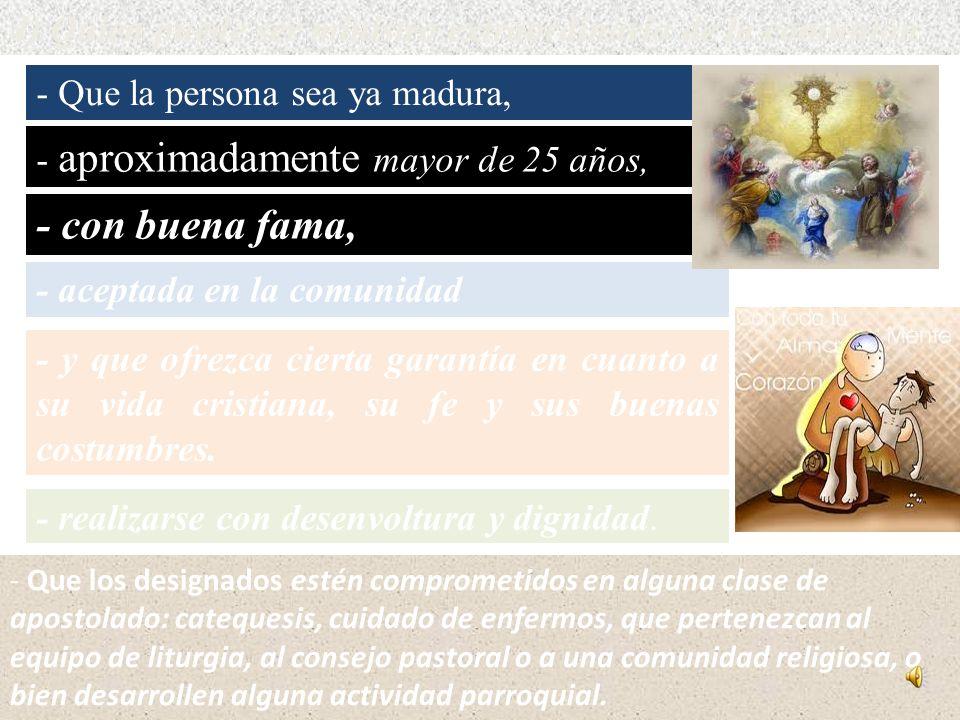 4) Quien puede ser ministro extraordinario de la comunión