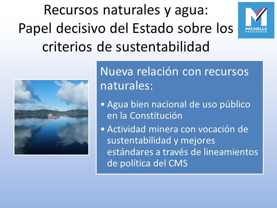 Recursos naturales y agua: Papel decisivo del Estado sobre los criterios de sustentabilidad