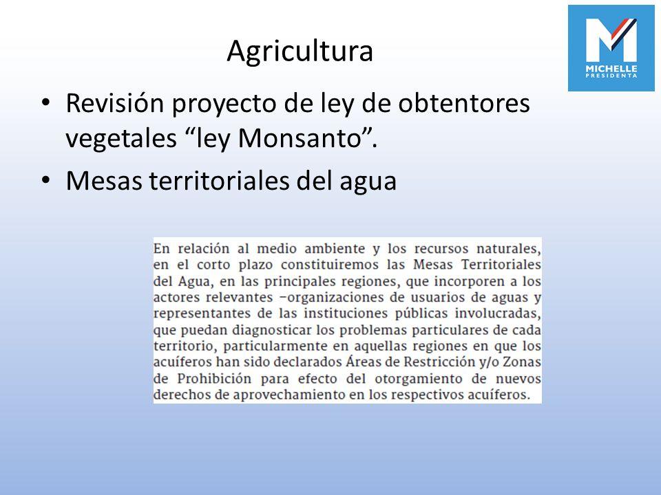 Agricultura Revisión proyecto de ley de obtentores vegetales ley Monsanto .