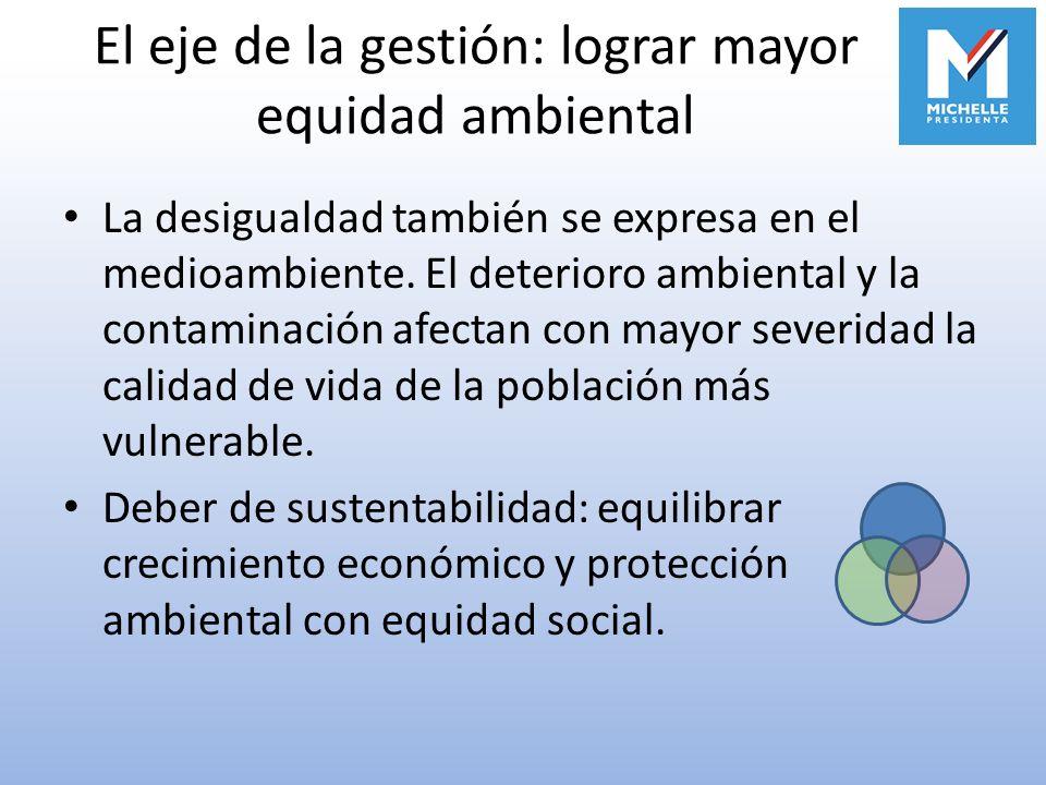 El eje de la gestión: lograr mayor equidad ambiental