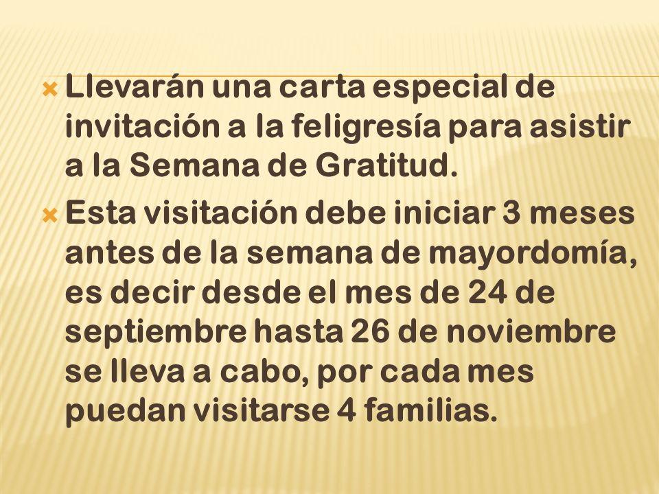 Llevarán una carta especial de invitación a la feligresía para asistir a la Semana de Gratitud.