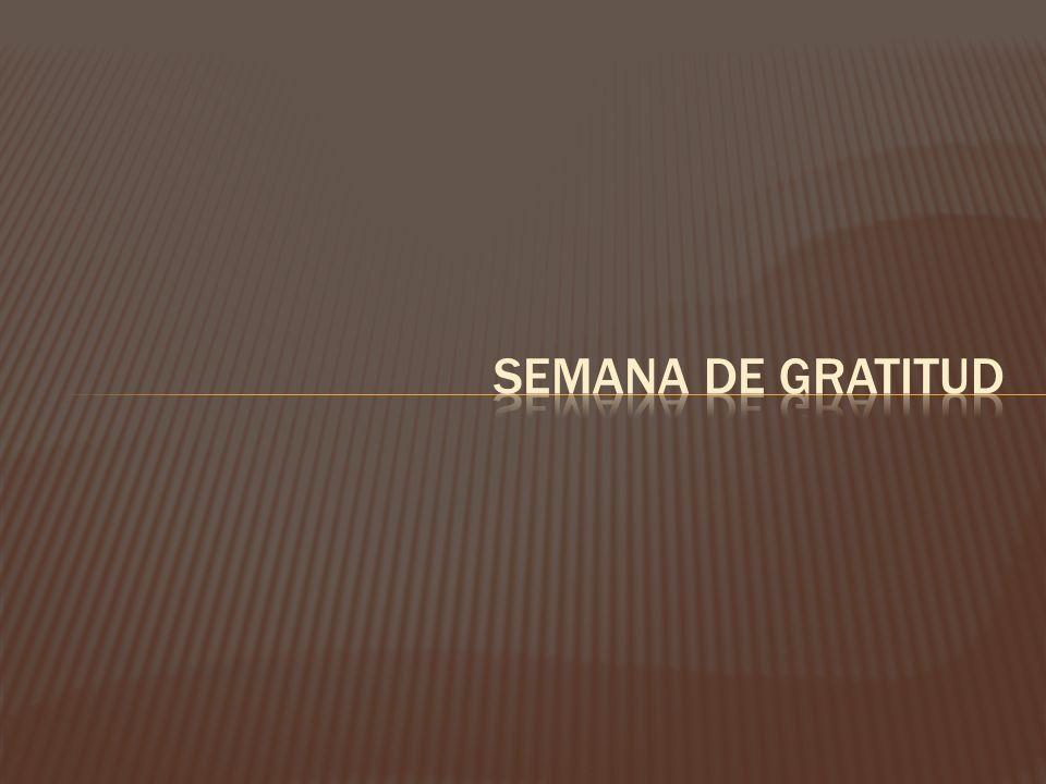 Semana de gratitud