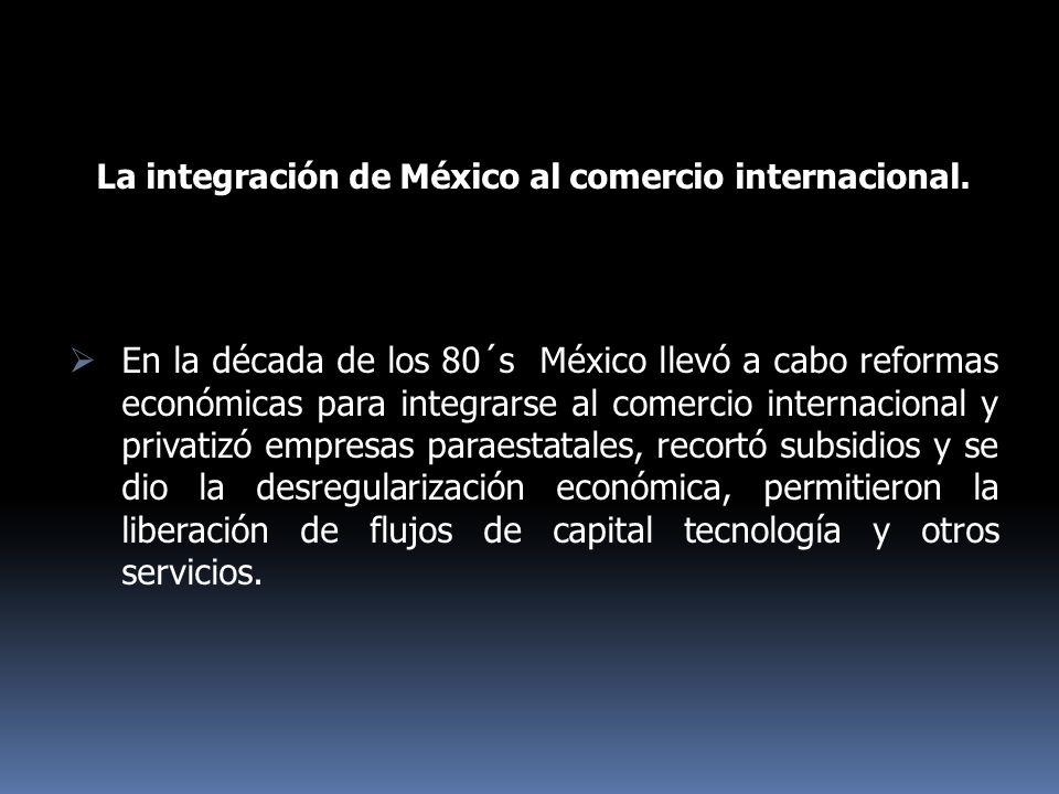 La integración de México al comercio internacional.