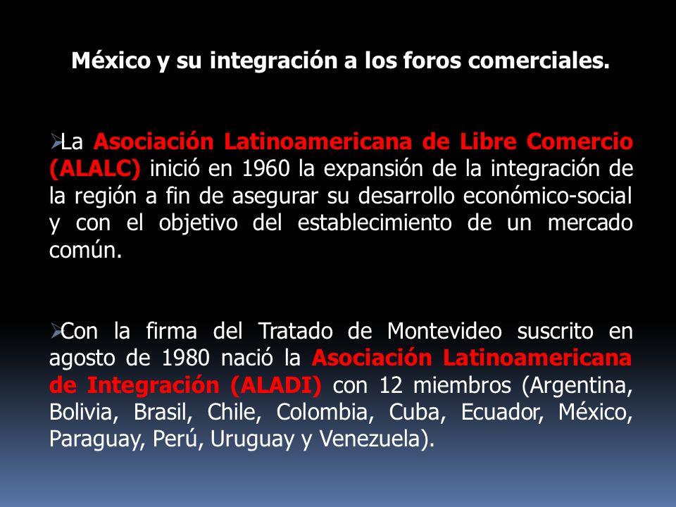 México y su integración a los foros comerciales.