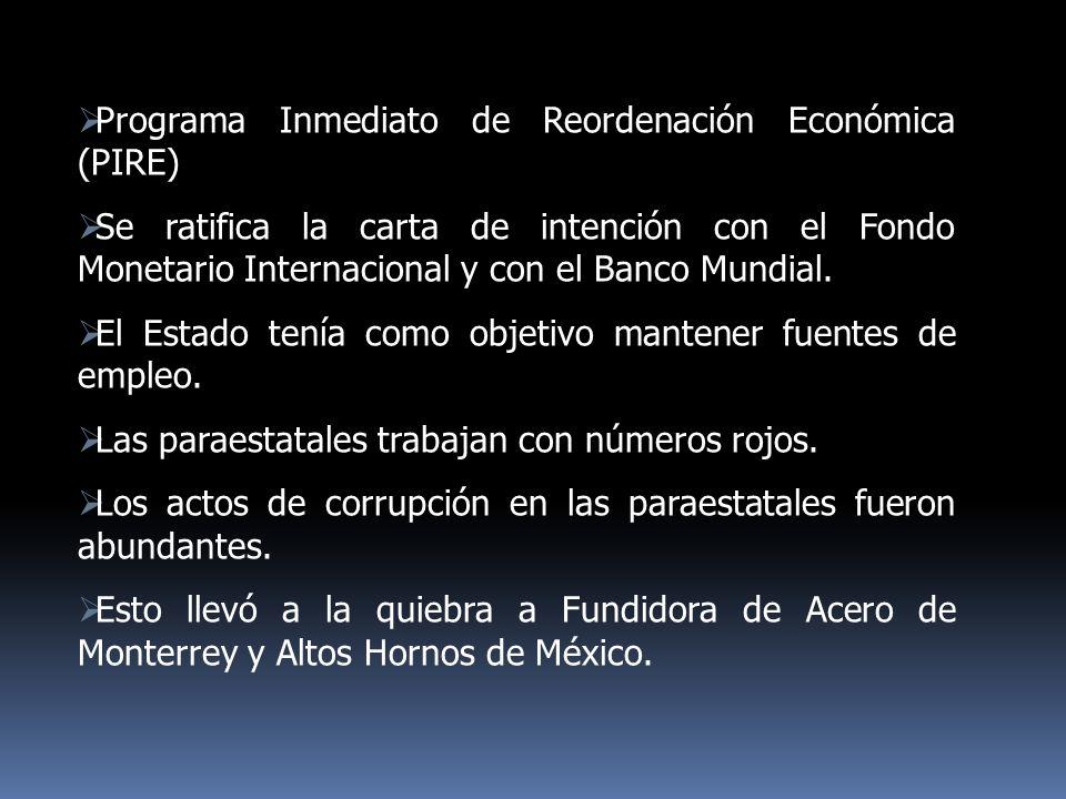 Programa Inmediato de Reordenación Económica (PIRE)