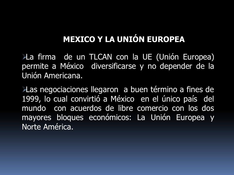 MEXICO Y LA UNIÓN EUROPEA