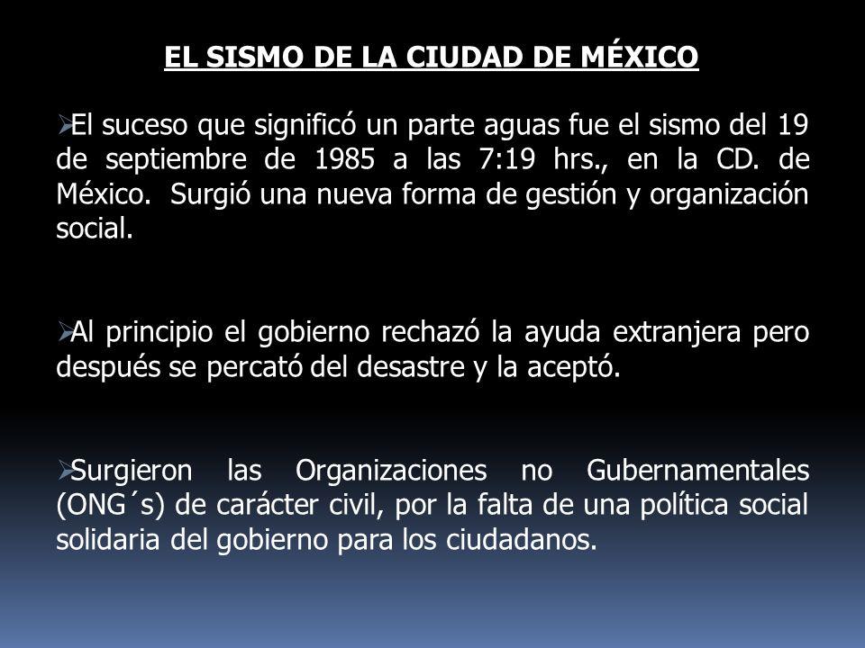 EL SISMO DE LA CIUDAD DE MÉXICO