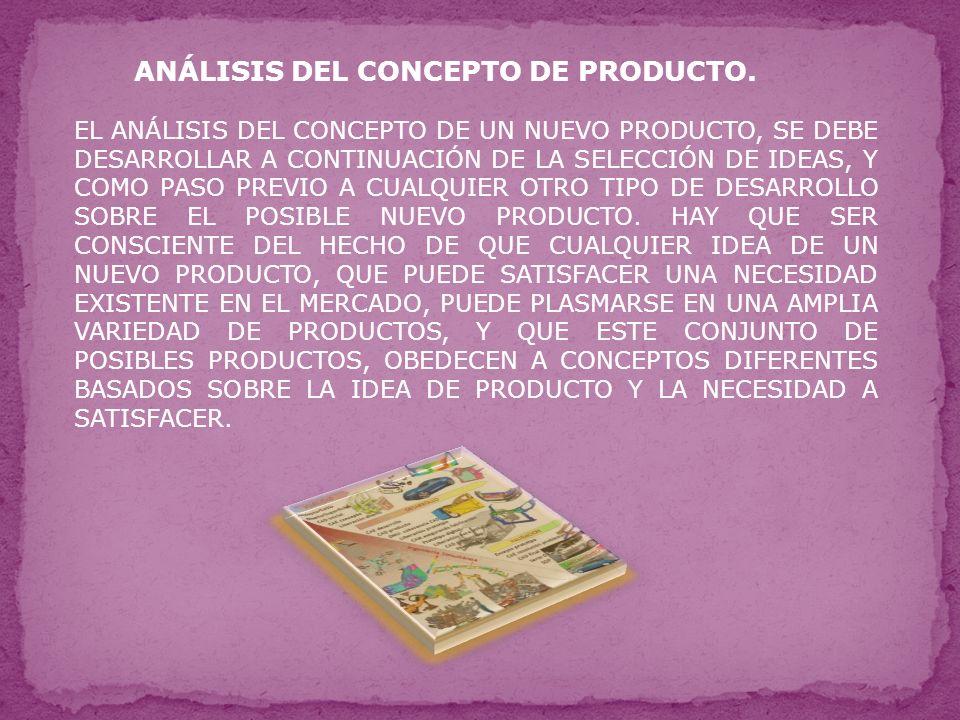 ANÁLISIS DEL CONCEPTO DE PRODUCTO.
