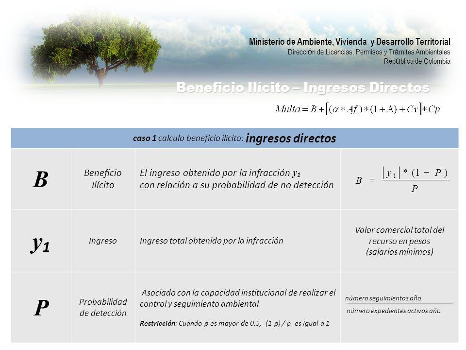 B y1 P Beneficio Ilícito – Ingresos Directos Beneficio Ilícito