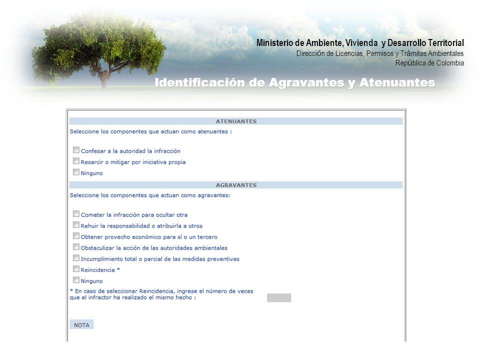 Identificación de Agravantes y Atenuantes