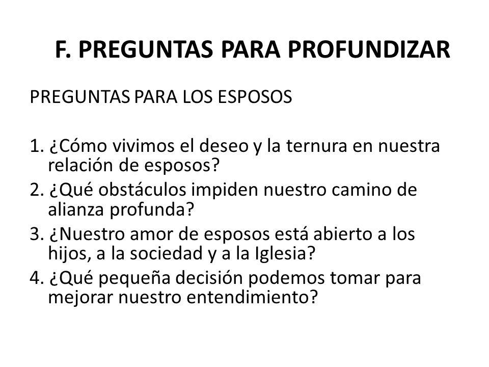 F. PREGUNTAS PARA PROFUNDIZAR