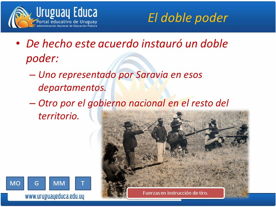 Fuerzas en instrucción de tiro.