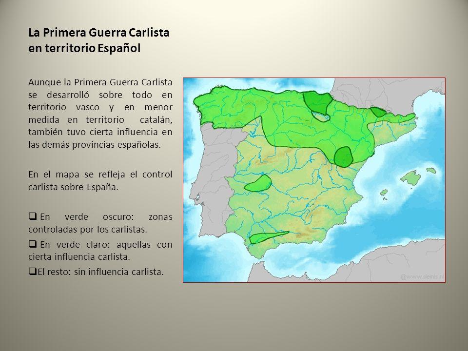La Primera Guerra Carlista en territorio Español