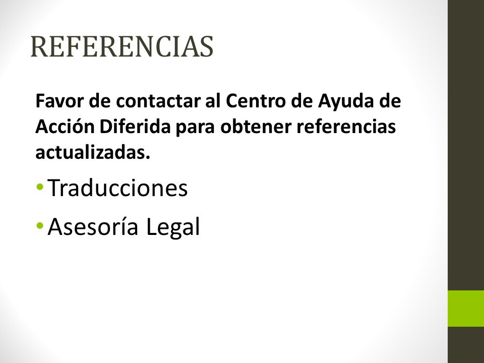 REFERENCIAS Traducciones Asesoría Legal
