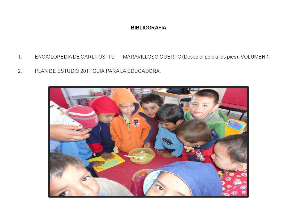 BIBLIOGRAFIA ENCICLOPEDIA DE CARLITOS. TU MARAVILLOSO CUERPO (Desde el pelo a los pies). VOLUMEN 1.
