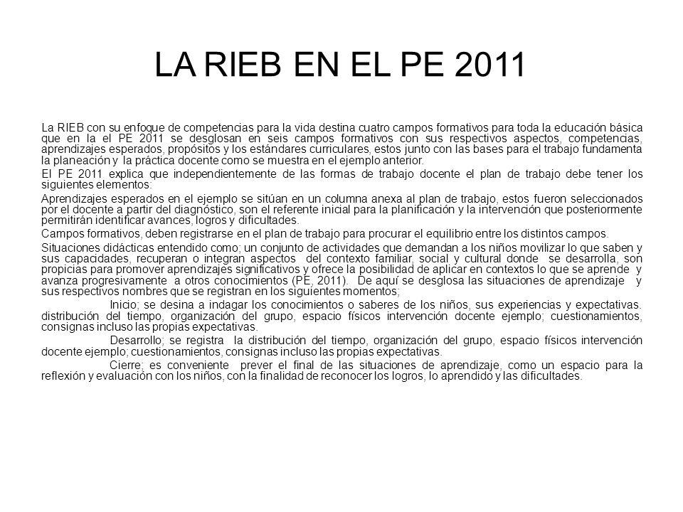 LA RIEB EN EL PE 2011