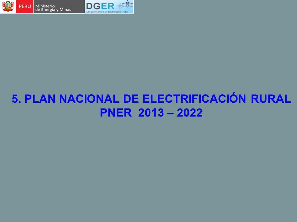 5. PLAN NACIONAL DE ELECTRIFICACIÓN RURAL