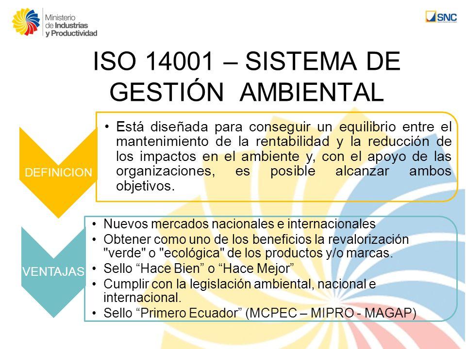 ISO 14001 – SISTEMA DE GESTIÓN AMBIENTAL