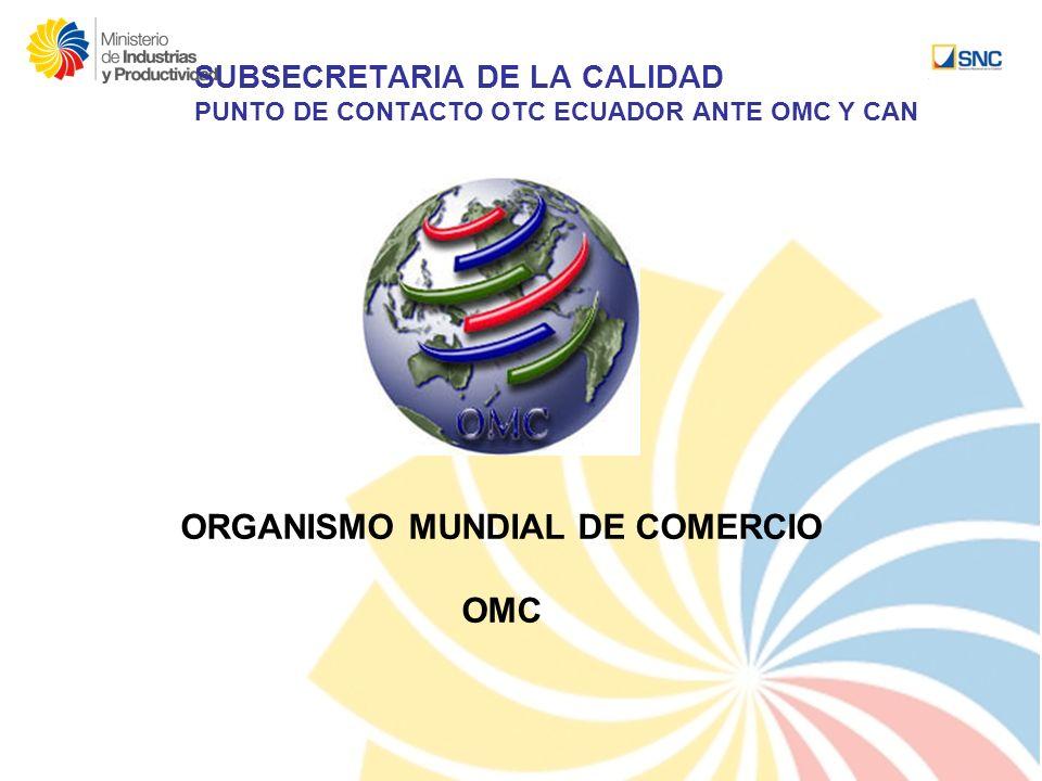 ORGANISMO MUNDIAL DE COMERCIO