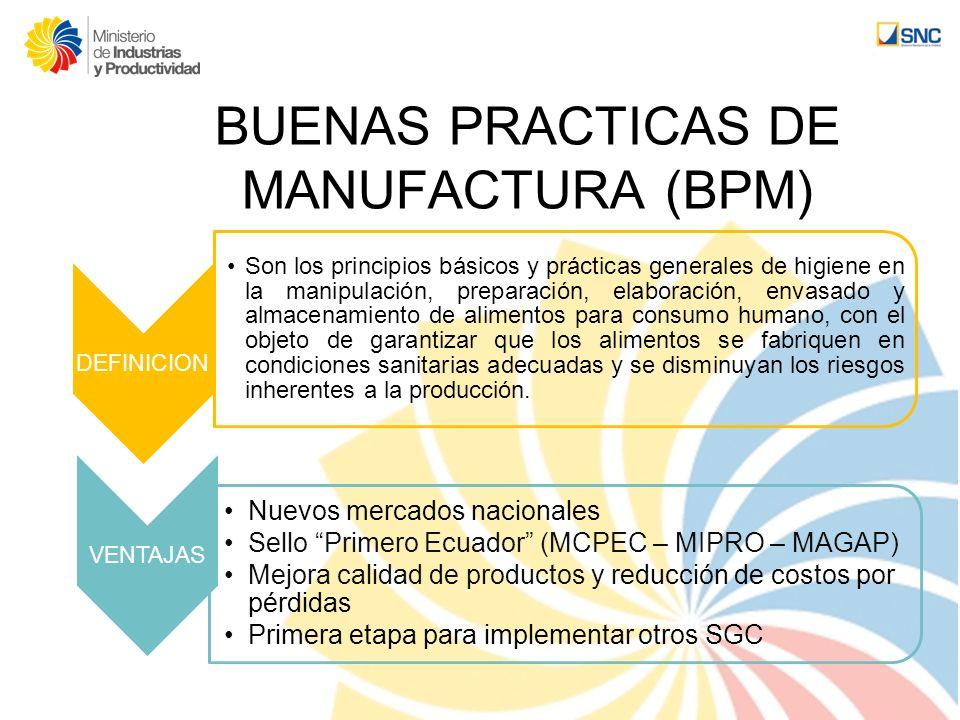 BUENAS PRACTICAS DE MANUFACTURA (BPM)