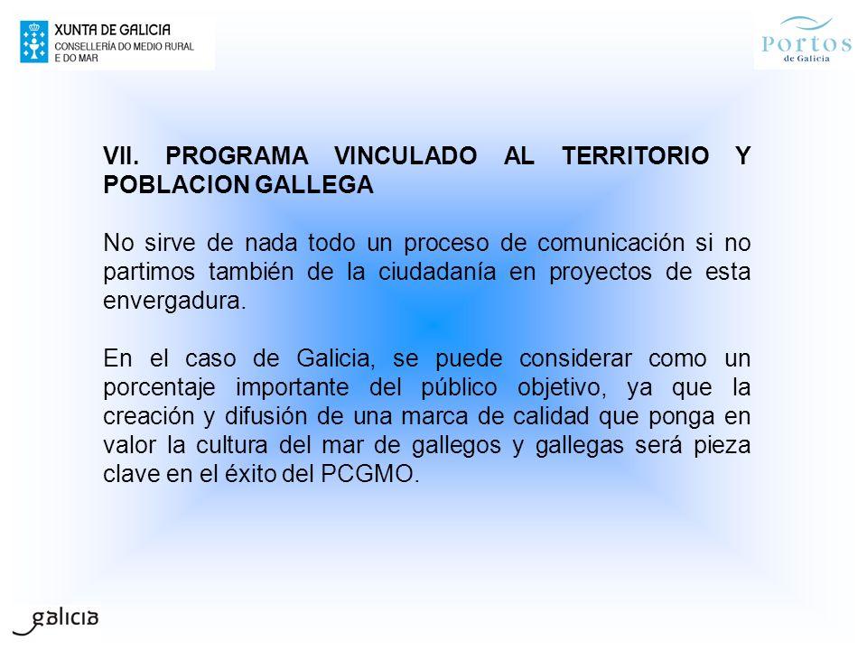 VII. PROGRAMA VINCULADO AL TERRITORIO Y POBLACION GALLEGA