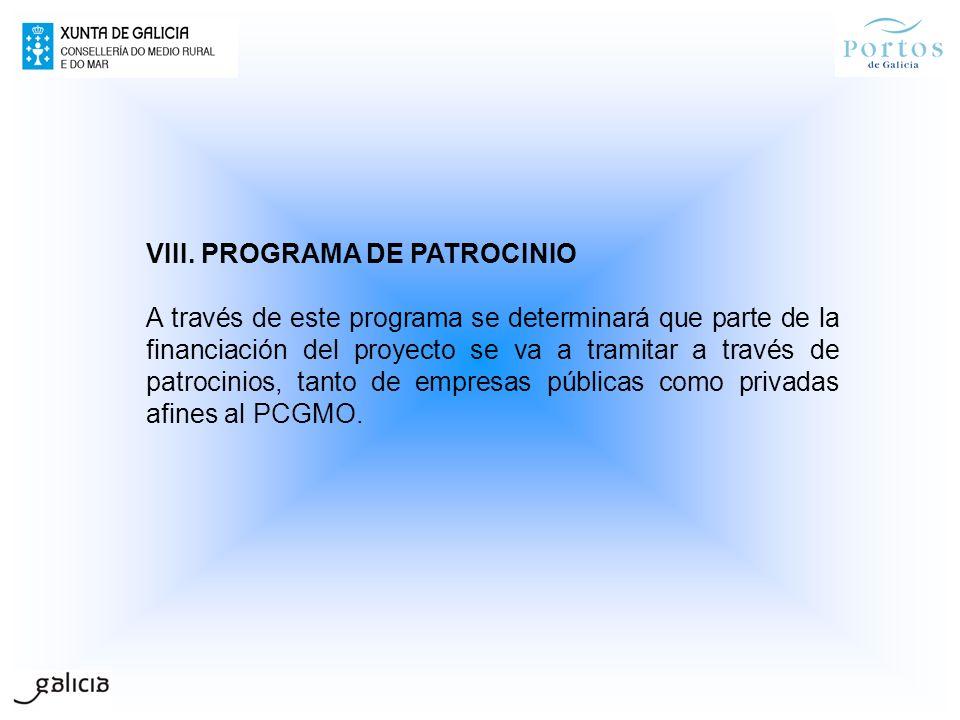 VIII. PROGRAMA DE PATROCINIO