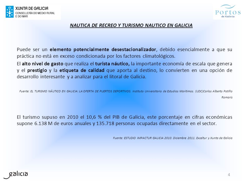 NAUTICA DE RECREO Y TURISMO NAUTICO EN GALICIA