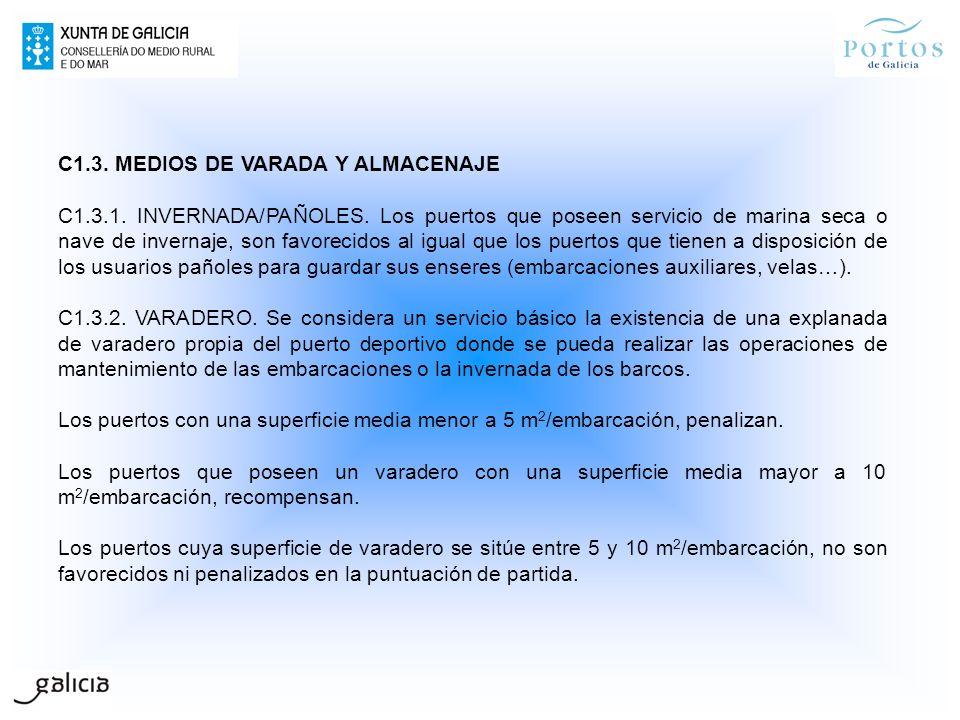 C1.3. MEDIOS DE VARADA Y ALMACENAJE.