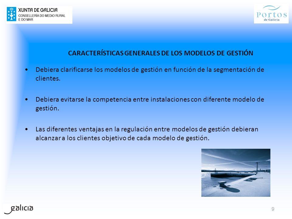 CARACTERÍSTICAS GENERALES DE LOS MODELOS DE GESTIÓN